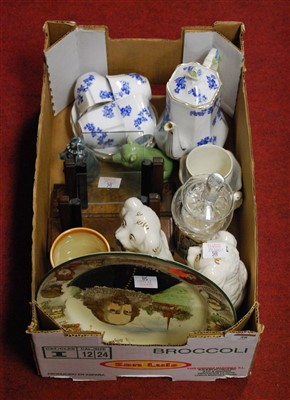 Lot 58-A box of miscellaneous items, to include Royal...