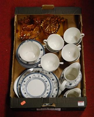 Lot 63-A Royal Doulton eight place setting tea service,...