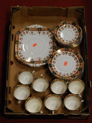 Lot 67 - An early 20th century eight place setting...