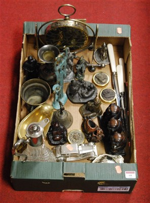 Lot 68 - A box of miscellaneous items, to include cut...