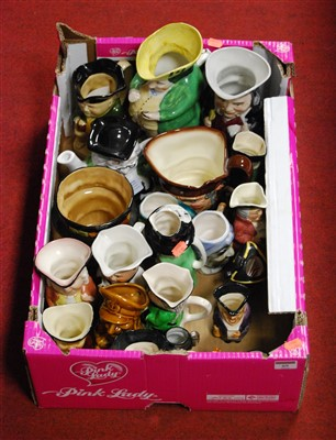 Lot 69-A box of miscellaneous Toby and character jugs,...