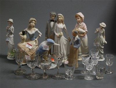 Lot 70-A Spanish porcelain figure group of a bride and...