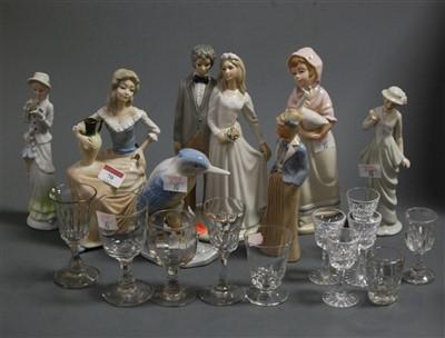 Lot 70 - A Spanish porcelain figure group of a bride...