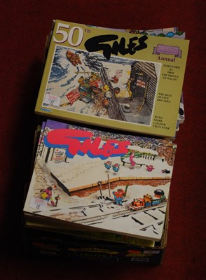 Lot 72-A box of miscellaneous Giles annuals