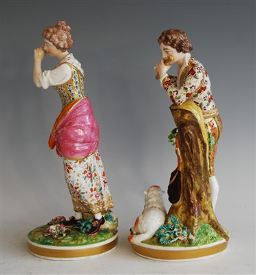 Lot 1023-A pair of early 19th century Bloor Derby...