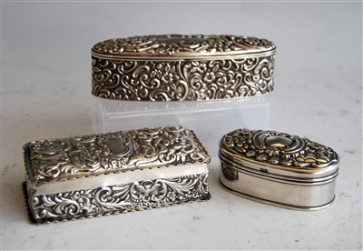 Lot 1077 - A late Victorian silver and embossed dressing...