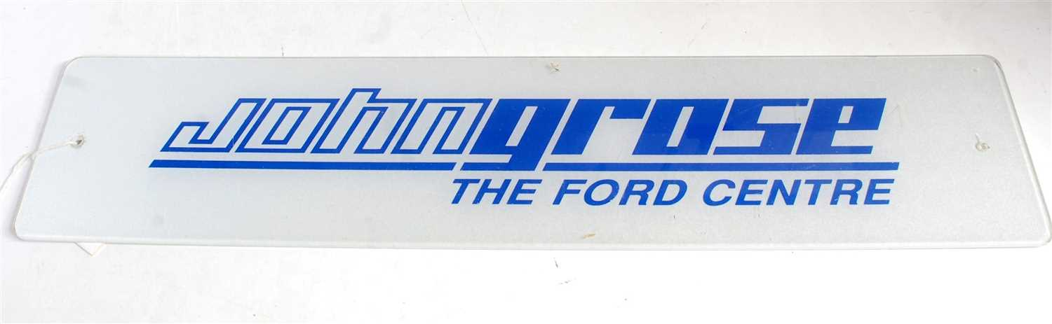 Lot 40-A perspex advert John Grose 'The Ford Centre'...