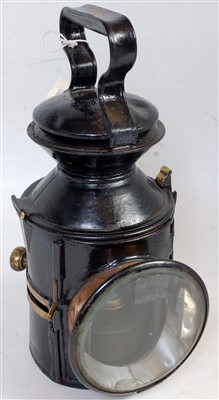Lot 62-An LNER GER style knob lamp dated 1929