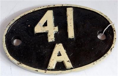 Lot 71-Shed plate 41A Sheffield Darnall