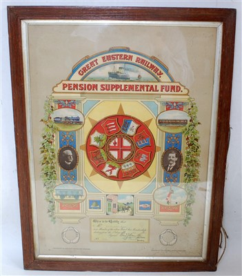 Lot 59-A GER pension certificate 1923
