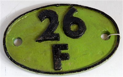 Lot 69-A shed plate 26F Patricroft or Lees, Oldham