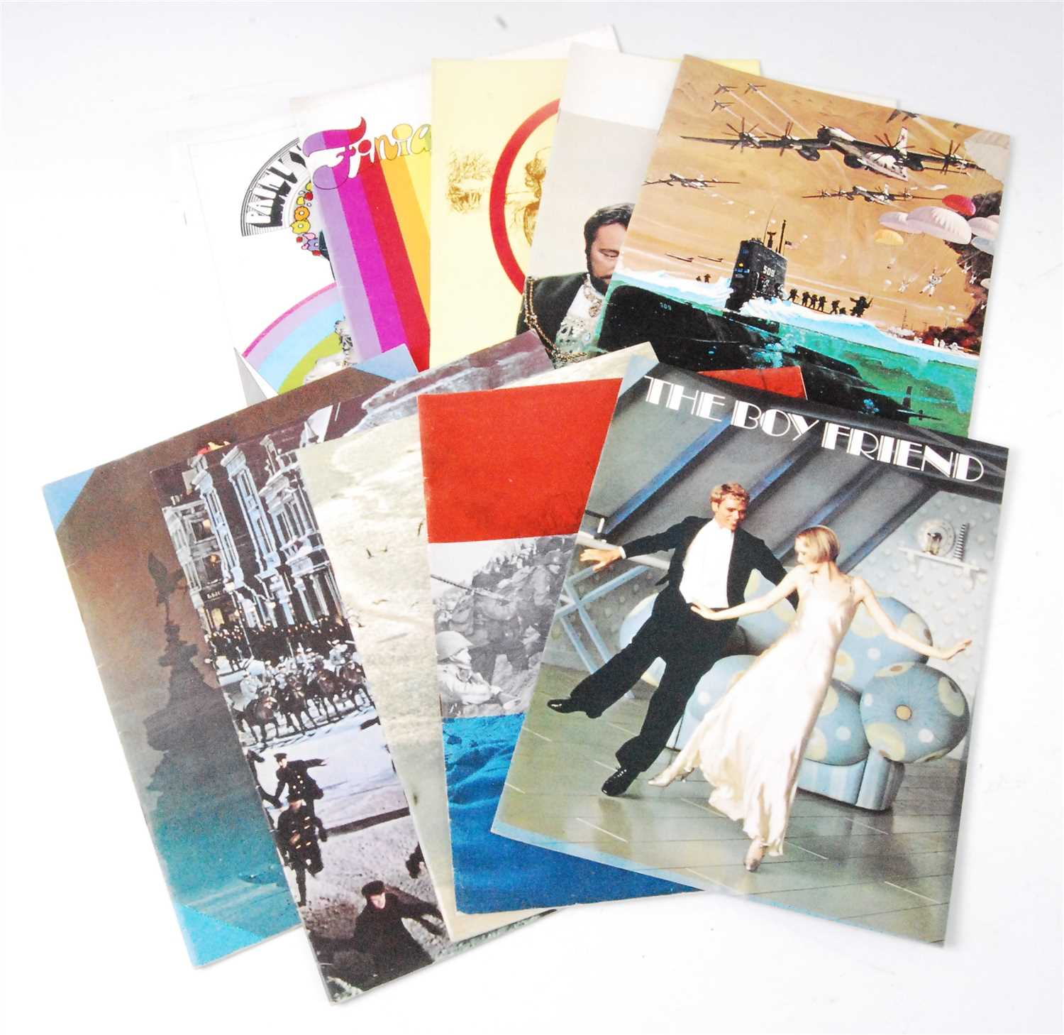 Lot 624-A collection of ten Official Souvenir programs to include