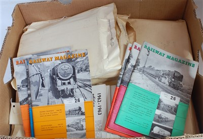 Lot 61-Seven complete years of Railway Magazine plus a...