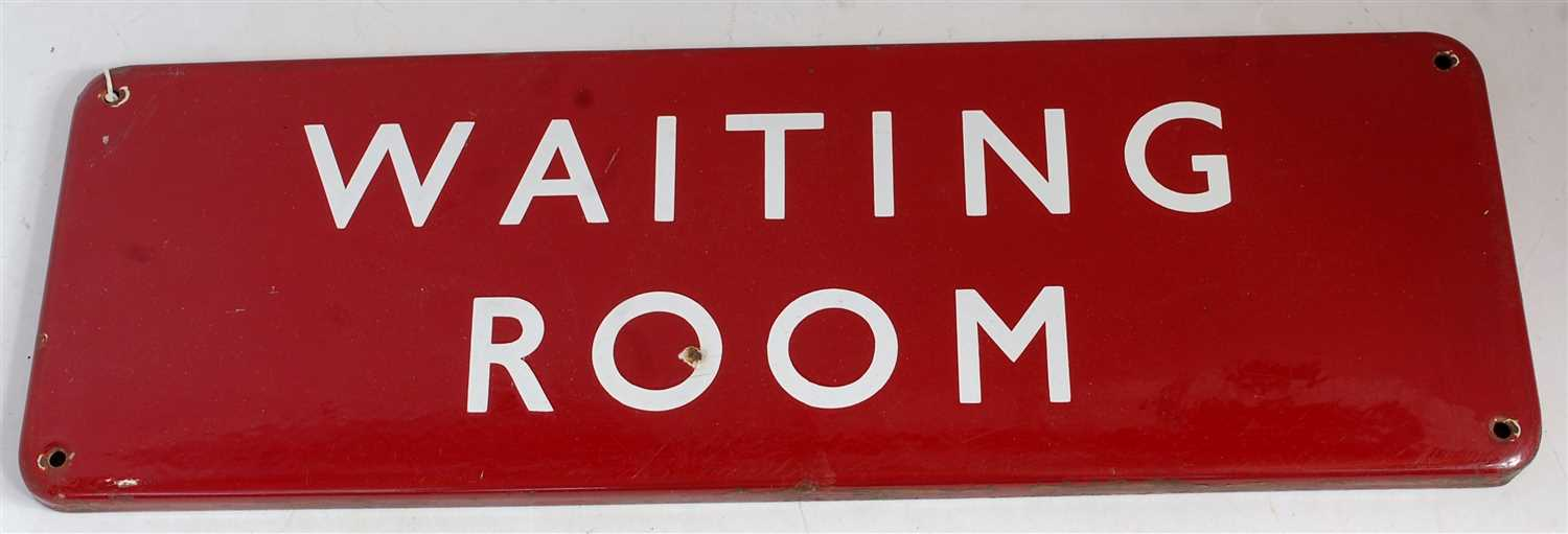 Lot 48-BR Midland fully flanged door plate 'Waiting Room'...