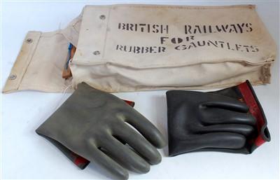 Lot 55-A British Railways canvas bag duly marked...