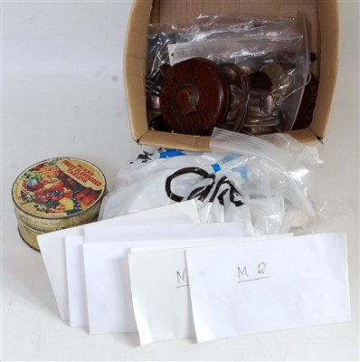 Lot 54-A small box of railway sundries to include tape...