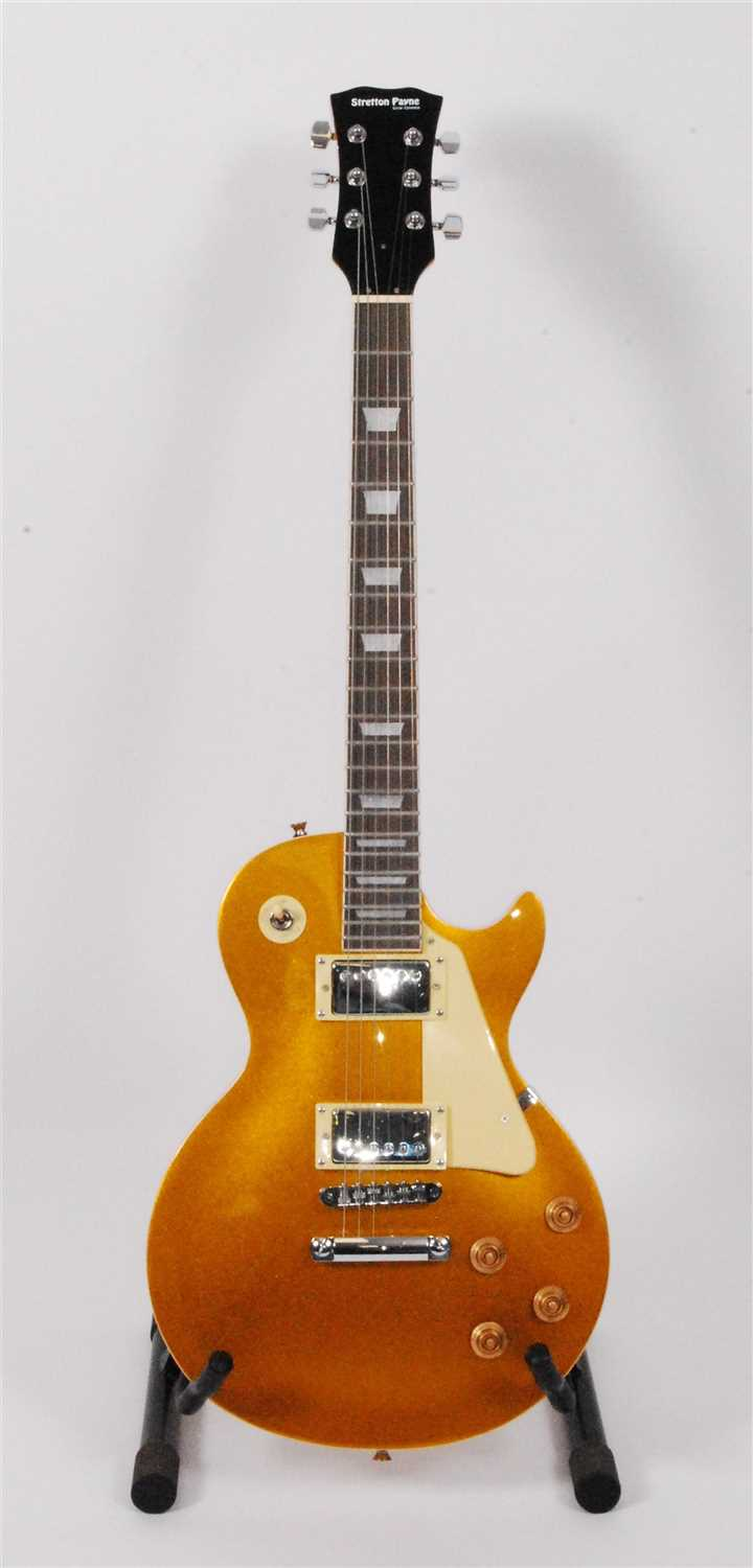 Lot 605-A Stretton Payne Les Paul style electric guitar