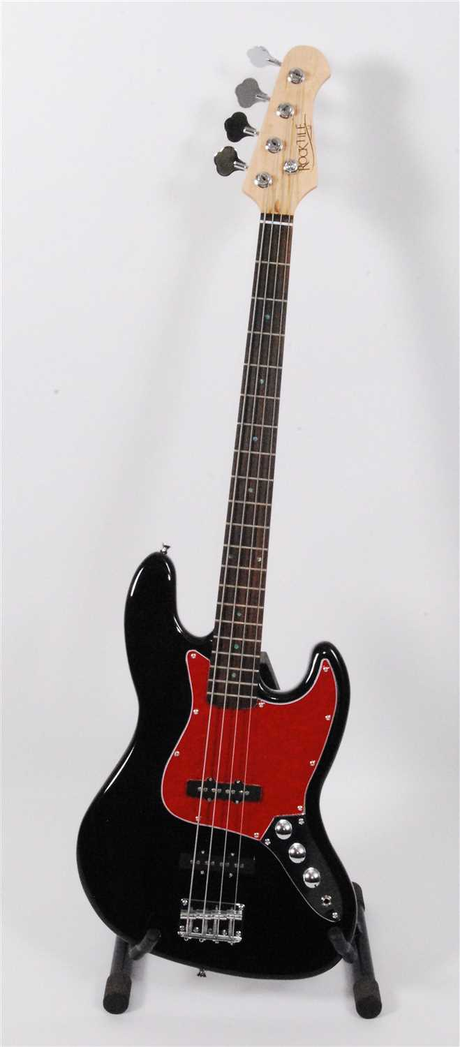 Lot 607-A Rocktile Jazz bass guitar
