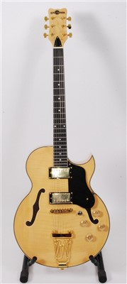 Lot 610-A Gear4music ES/295 electro/accoustic guitar, in natural finish