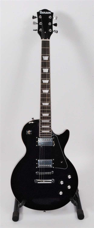 Lot 612-A Benson Les Paul style electric guitar, in purple