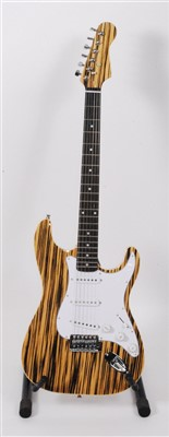 Lot 613-A Santander stratocaster electric guitar, in natural finish