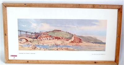 "Lot 3-An original railway carriage print ""SANDSEND,..."