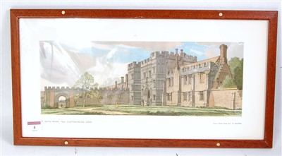 "Lot 4-An original railway carriage print ""ST OSYTH,..."