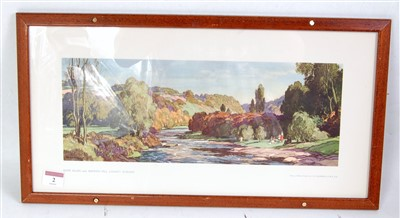 "Lot 2-An original railway carriage print ""RIVER..."
