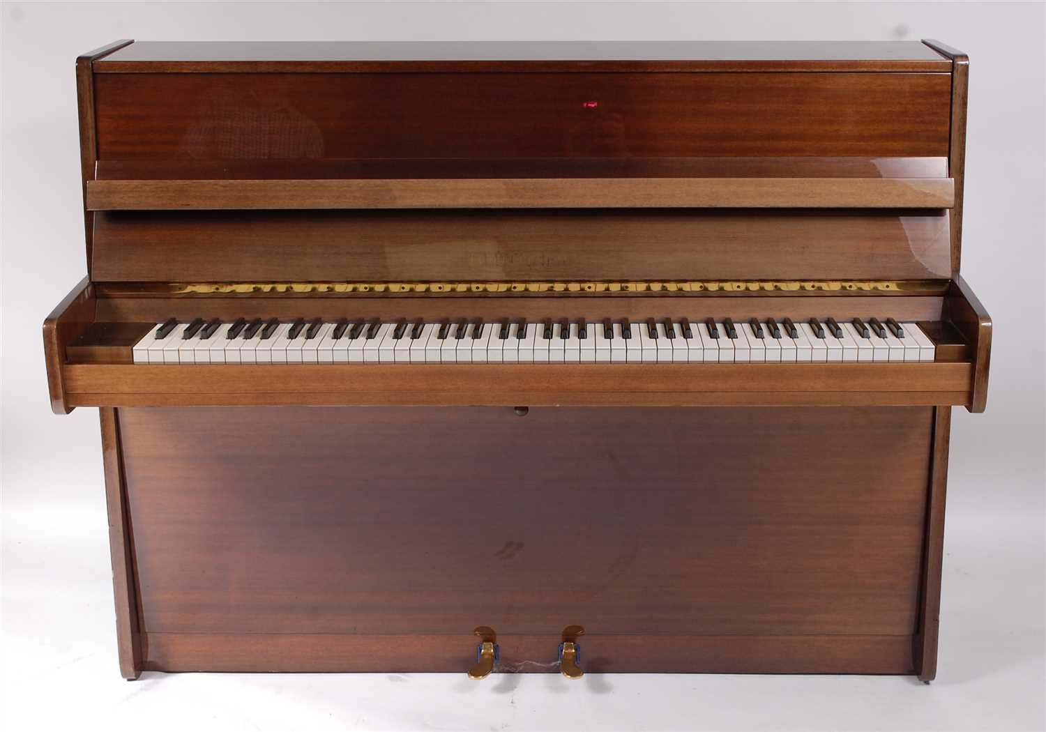 Lot 616-A Bluthner mahogany cased iron framed cross strung upright piano