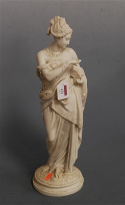 Lot 14-A Victorian parian figure of a robed maiden in...