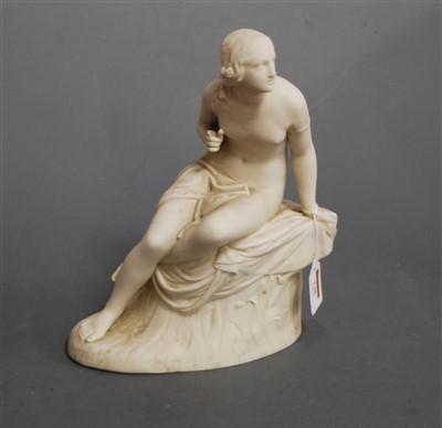 Lot 5-A Victorian Copeland parian figure of a classical ...