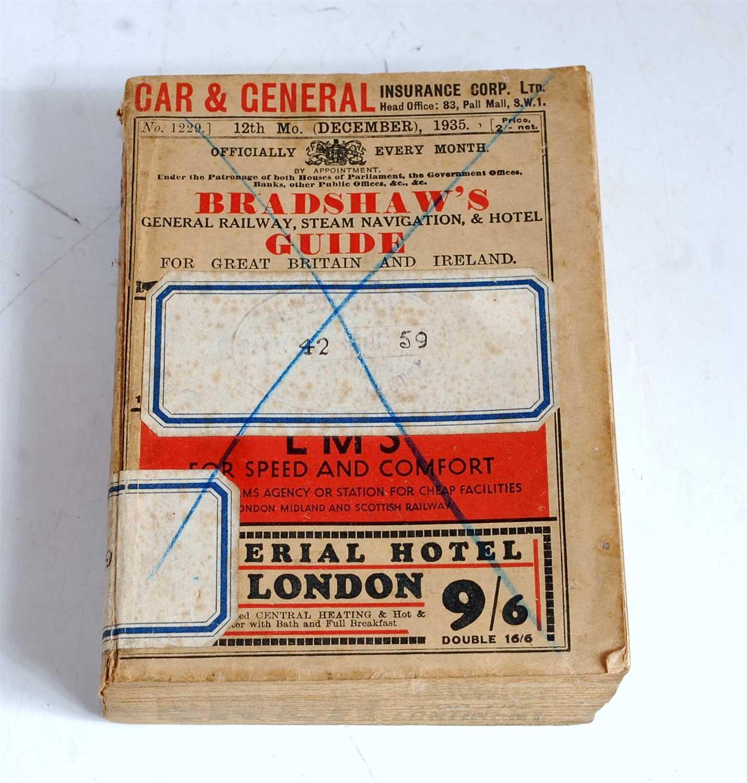 Lot 32-An original Bradshaws Railway Guide dated 12th...