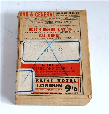 Lot 32-An original Bradshaws Railway Guide dated 12th...