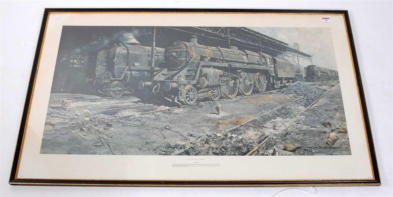 Lot 30-A large framed and glazed David Shepherd print,...