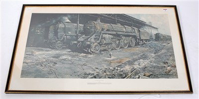 Lot 30-A large framed and glazed David Shepherd print,...