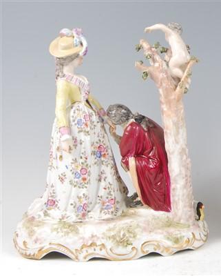 Lot 1015-A late 19th century Dresden porcelain figure...