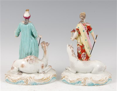 Lot 1018-A pair of 19th century continental porcelain...
