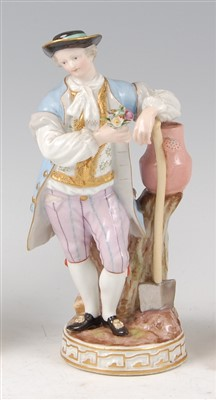 Lot 2027-A late 19th century Meissen porcelain figure of a ...
