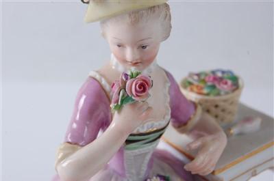 Lot 1004-A late 19th century Meissen porcelain figure,...