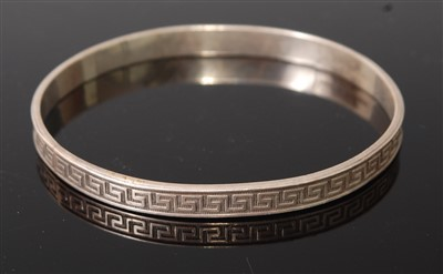 Lot 256 - A Liberty & Co sterling silver bangle, having...