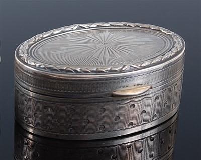 Lot 1120 - A circa 1900 continental silver pocket snuff...