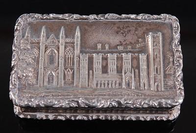 Lot 1121 - A William IV silver 'castle-top' vinaigrette,...