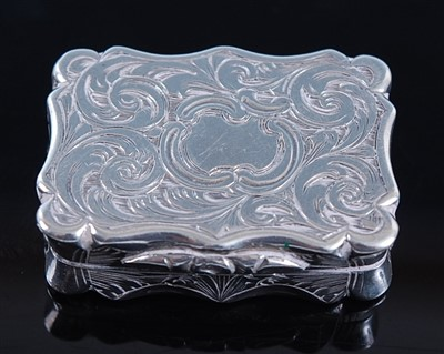 Lot 1122 - A Victorian silver vinaigrette, of rectangular...