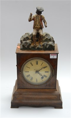 Lot 2-A late 19th century continental walnut cased...
