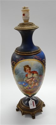 Lot 4-A late 19th century continental porcelain and...