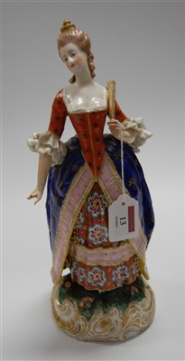 Lot 13-A 19th century continental porcelain figure of a...