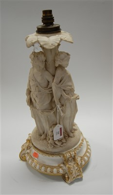 Lot 16-A Victorian parian figural table lamp in the form ...
