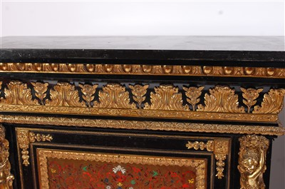 Lot 1492-A pair of 19th century ebony and tortoiseshell...