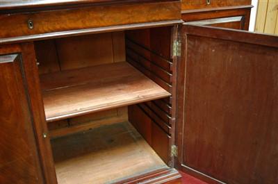 Lot 1509-A 19th century mahogany breakfront library...