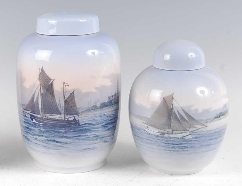Lot 2-A Royal Copenhagen large porcelain ginger jar and ...
